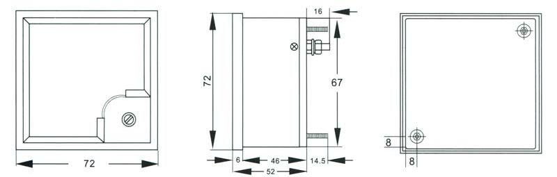 DH 72 wymiary