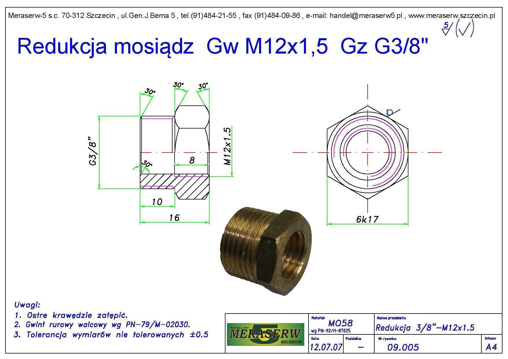 Redukcja GwM12 Gz38