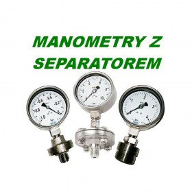 MANOMETRY Z SEPARATOREM
