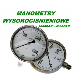 Manometry na ciśnienia od 1000BAR do 4000BAR